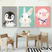 Nordic Decorative Painting Frame Children's Room Animal Pattern Warm Hanging Simple Modern Living Room Decorative Painting