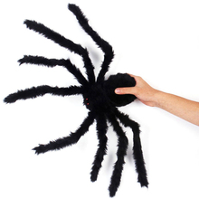 507590cm simulated plush halloween spider made of wire and plush halloween props - Halloween Spiders