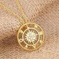 Nueva Llegada 18 K Oro Verdadero Plateado Collar de Los Colgantes Para mujeres Completo Cubic Zirconia Encantos para Hacer La Joyería de Calidad Superior Breloque