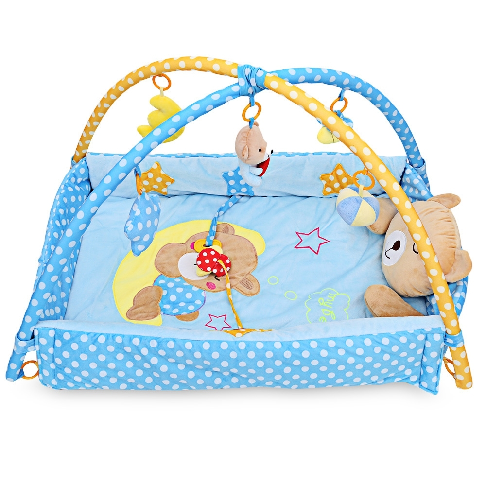 Baby Toy Rug: Bear Baby Toy Baby Folding Play Mat 0 1 Year Game Tapete