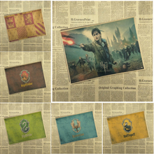 Harry Potter Drawing core Classic Movie Kraft Paper Poster Bar Cafe Living Room Dining room Wall Decorative Paintings(China (Mainland))