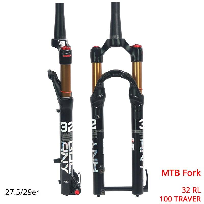 Вилка для горного велосипеда 27,5 29er 100 ммтравер подвеска Велосипедная вилка, замок прямой/конический MTB вилка сплав дисковый тормоз вилка