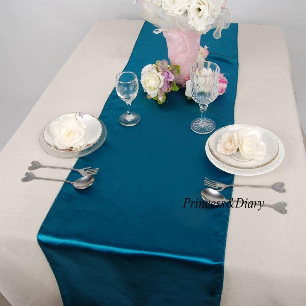 Table Basse Terrarium A Vendre ᐅ10 pièces lac bleu satin chemin de table 12 pouce x 108