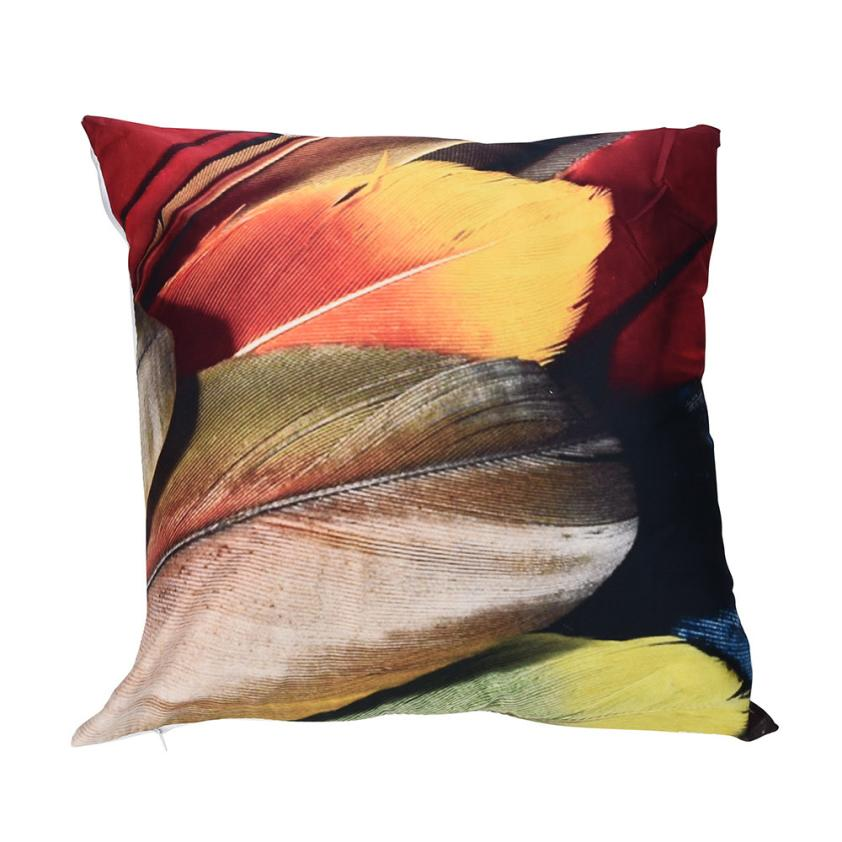 Pillow Covers Polyester Sofa Car Cushion Cover Line Print Zipper Closure 45*45cm Pillow Case 18FEB26