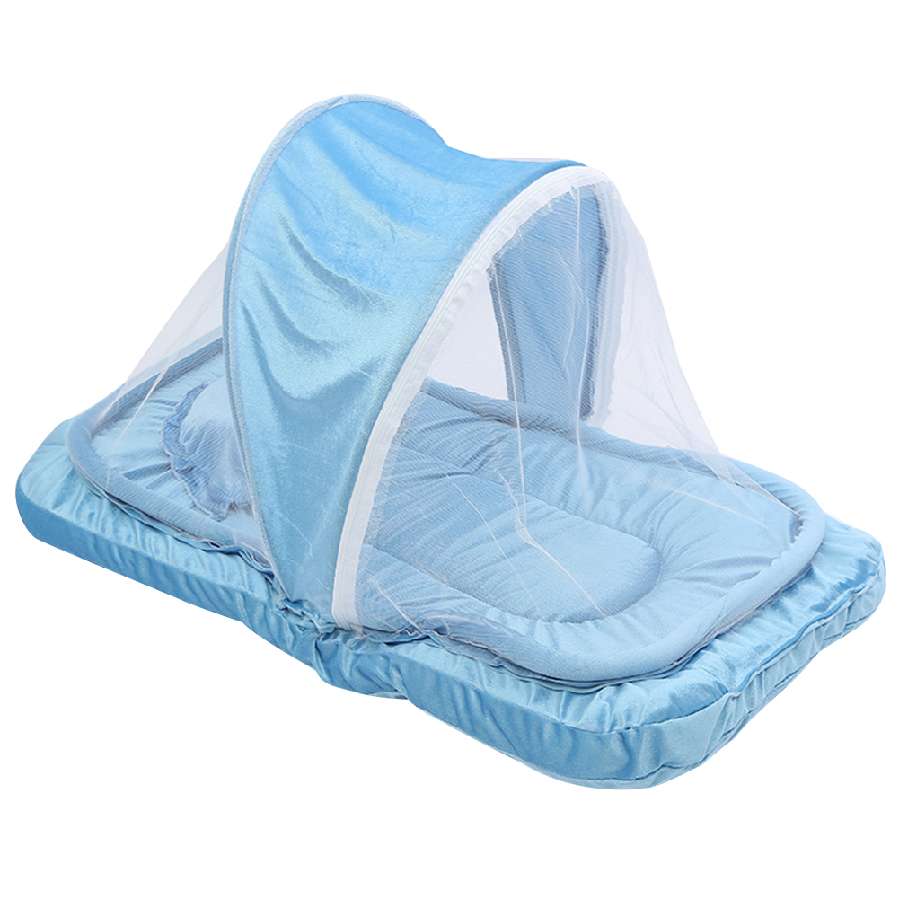 Portable Kids Baby Mosquito Net Travel Cot Tent Mattress Cradle Bed Pillow