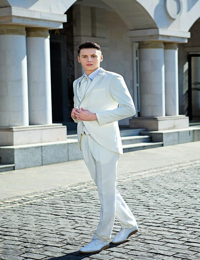 Dorable Mens White Wedding Suit Adornment - All Wedding Dresses ...