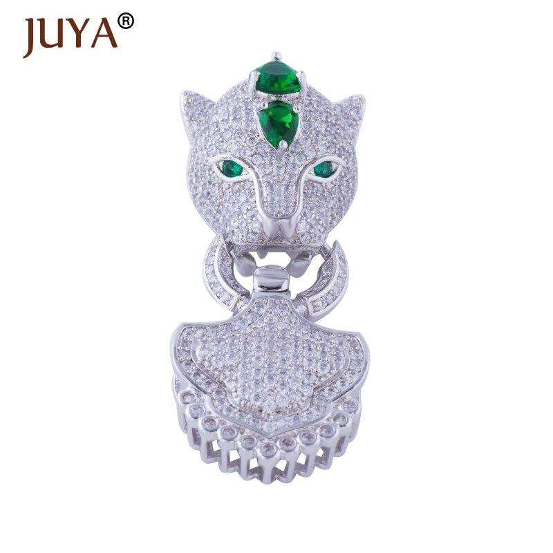 30fee5e1205f Hot bisutería de moda Bijoux Zircon leopardo encantos para collares  pulseras y Big cobre Micro Pave joyería del corchete