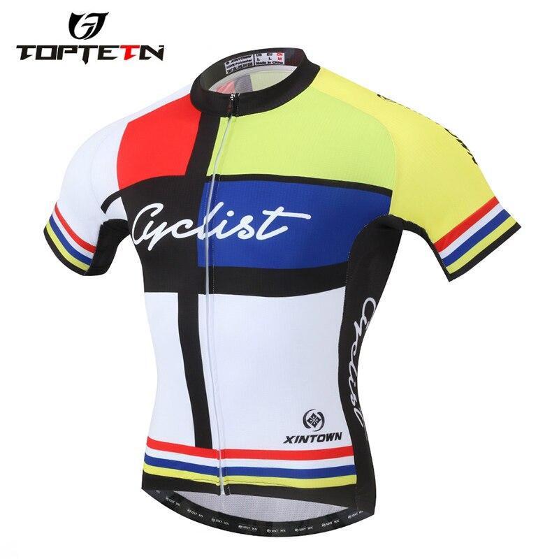 Vente chaude Pro cyclisme jersey été Cycliste respirant à manches courtes chemise vélo Maillot Ciclismo vêtements de sport