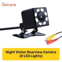 Seicane 8 LED affichage plastique 648*488 pixels fil HD voiture caméra de recul Parking inverse Kit de moniteur CCD CMOS