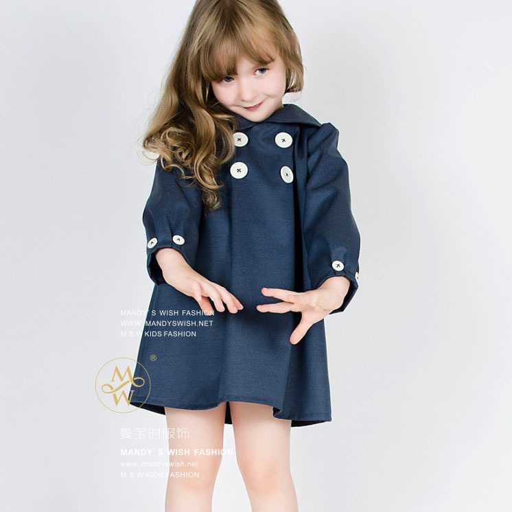 Spring Winter Baby Girl Dark Blue Princess Dresses Kids Denim Jean Evening Party Dress Children Girls Fashion Clothes napapijri guji check dark blue
