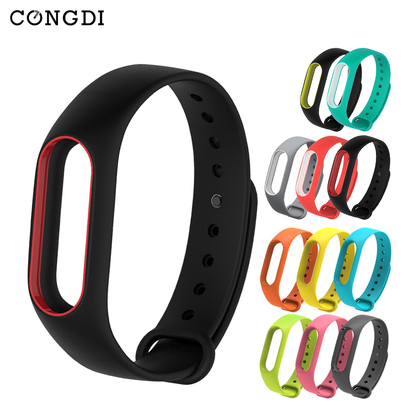 Colorful Silicone Anti-fading Wrist Strap Replacement Watchband for Original Wristbands for Miband 2 for Xiaomi цены онлайн
