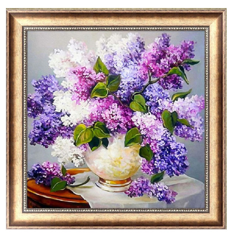 Lavender 5d diamond embroidery diy craft painting cross for Mosaic home decor