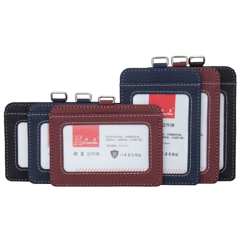 Badges Card-Holder Lanyard Admission-Cover Id-Card Certificates-Case Women PVC for Without