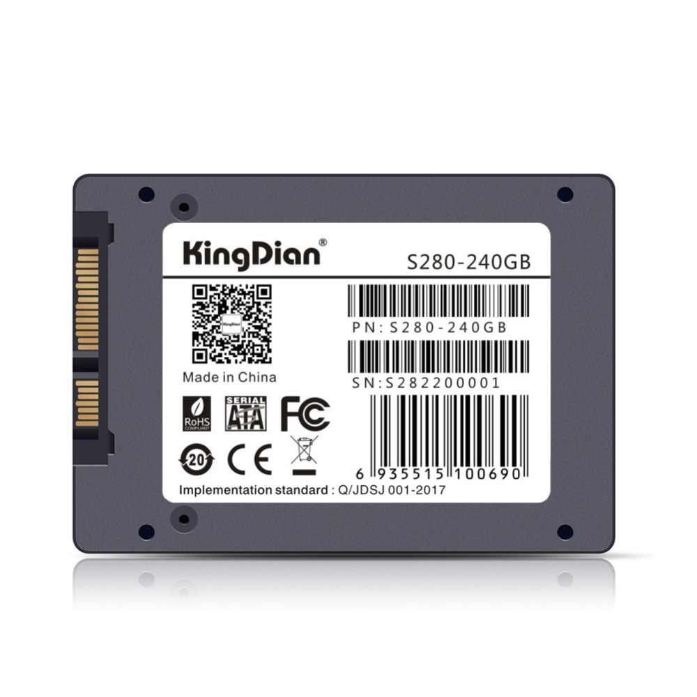 KingDian אבטחת איכות הכי חדש (S280 240GB)SSD SATA3 פנימי SSD קשה כונן דיסק SSD 240GB 256G משלוח חינם