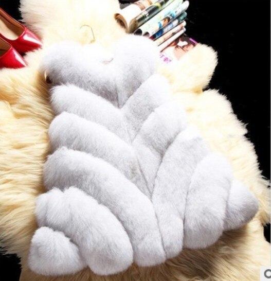 Preppy Faux Fourrure Pardessus Aw161 Mince Sexy Tendance Manteau De 2018 Artificielle Renard Hiver A ligne Gilet Femmes Furry Court qTXOY
