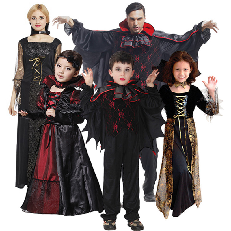 Christmas Halloween Costumes Diy.Us 18 0 Free Shipping Vampire Family Suit Adult Men And Women Dance Costumes Christmas Halloween Activities For Children To Play In Party Diy