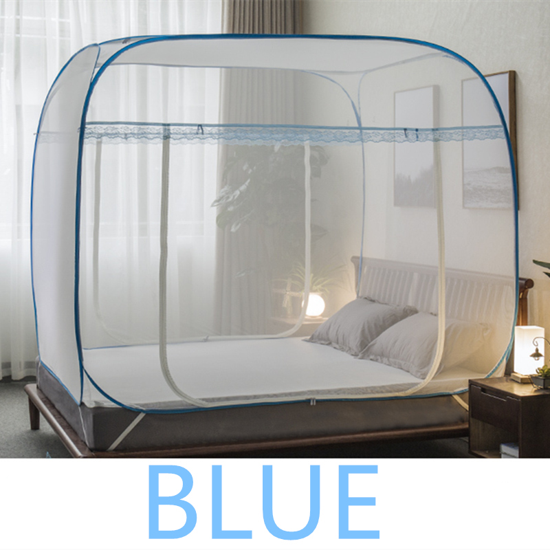 Folding Summer Mongolian Yurt Mosquito Net Double Bed Canopy Mesh Nets Elegant Insert Repellent Bed Tent Lace Girls moustiquaire