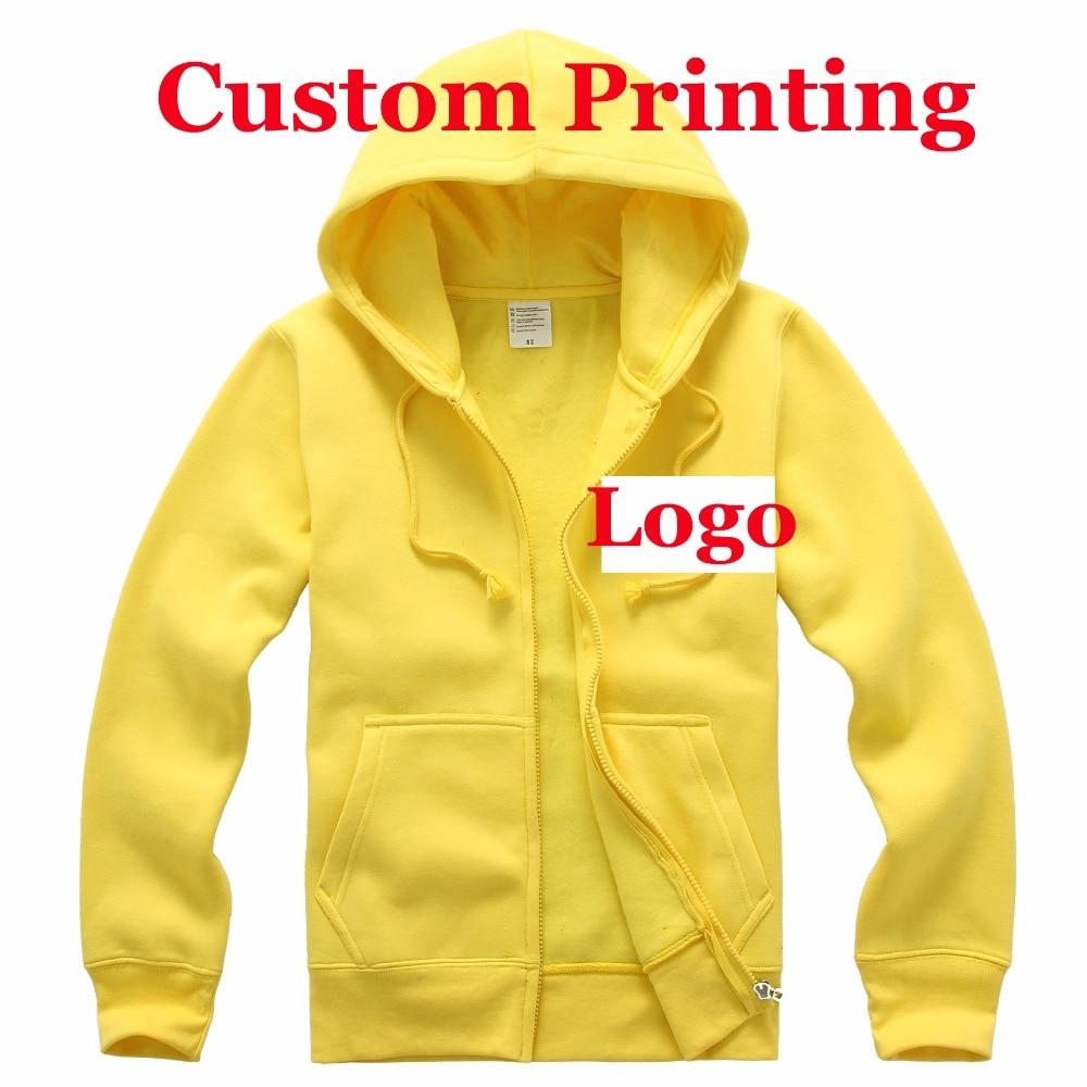 abf78b4767e Customized Printing Logo Custom Hoody Women Mens Team Company Logos Silk  Screen Heat transfer print Embroidery Zipper hoodies