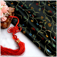 100cmx90cm Pepper Flower Style High Precision Jacquard Tapestry Satin Jacquard Brocade Fabric Upholstery Fabric For Patchwork