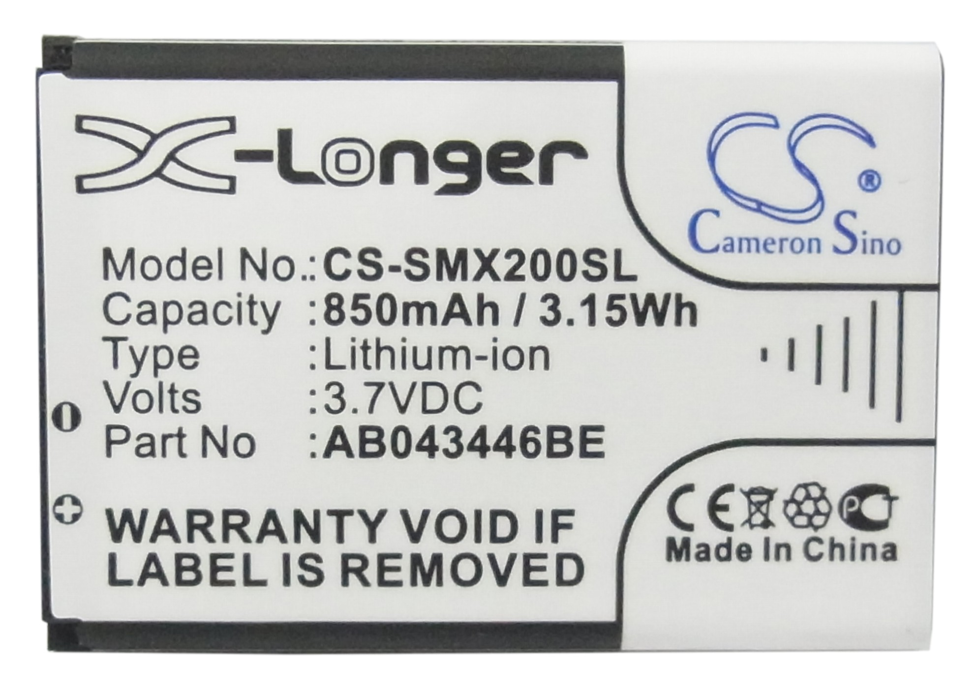 Cameron Sino 850mAh Battery for JOA Telecom L210, L-210