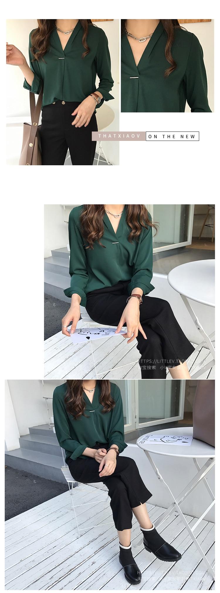 women chiffon blouse shirt long sleeve women shirts fashion womens tops and blouses 2020 3XL 4XL plus size women tops 1681 50
