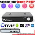 Full HD 1080 P CCTV 4CH NVR 8CH NVR Para Câmera IP ONVIF H.264 HDMI Gravador de Vídeo em Rede 4 Canal 8 Canais NVR Suporte 6 TB HDD