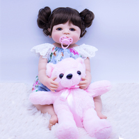 55cm Full silicone reborn babies dolls Real touch bathe princess bebe dolls collectible doll Realistic birthday gift brinquedos