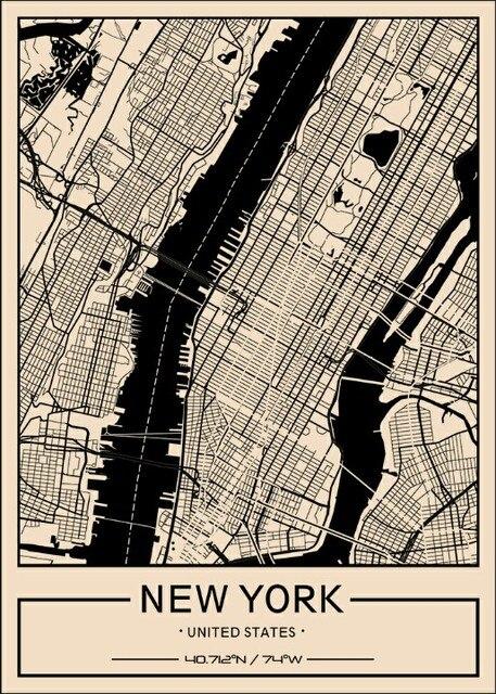 custom map art poster
