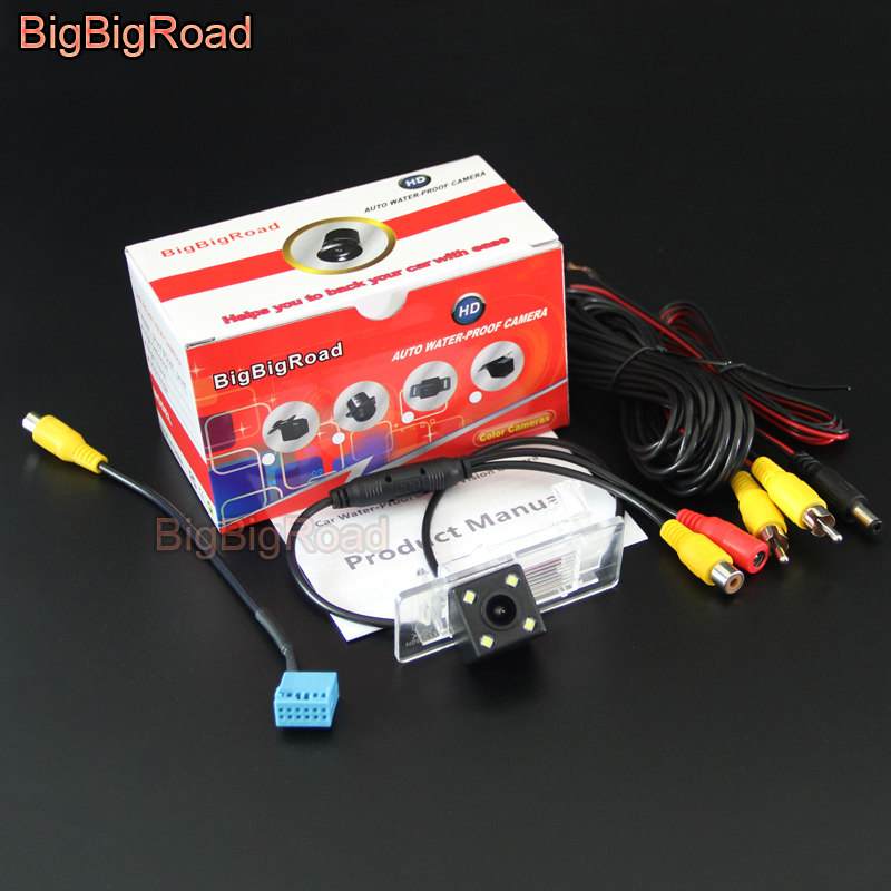 BigBigRoad Car Rear View Parking Camera For Skoda Octavia 2014 2015 2016 2017 with 12 Pins adapter Original Monitor Compatible