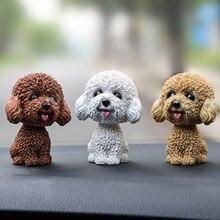 Lovely Car Ornaments Wobble Shaking Head Dolls Dog Nodding Puppy Toys Dashboard Decor Toy Auto interior Accessory
