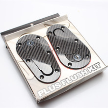 Car Universal water transfer machine cover lock car modified hood lock racing engine cover carbon fiber  2016 new