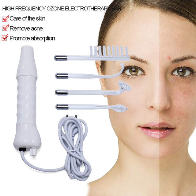 High Frequency Facial  Hair  electrotherapy bar face massager Darsonval Wand Spot Acne Remover skin care tools Beauty Device