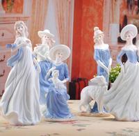High Grade Ceramic Goddess Girls Lady Figurines Home Decor Crafts Room Decoration Wedding Handicraft Ornament Porcelain