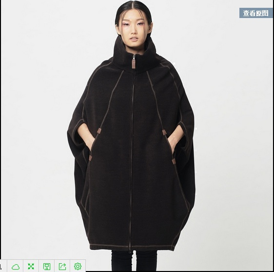 Clearance---2015 original design new autumn and winter womens double-sided collar cocoon coat sleeve and long coat