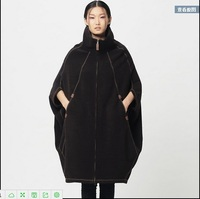 Clearance 2015 original design new autumn and winter women's double sided collar cocoon coat sleeve and long coat
