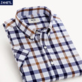 Clearence Sale Men Shirt Short Sleeve Casual Plaid Shirt Men's Clothing Dress Shirts Men Fashion Camisa Masculina New 2017