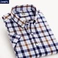 Clearence Sale Men Shirt Short Sleeve Casual Plaid Shirt Men's Clothing Dress Shirts Men Fashion Camisa Masculina New 2017
