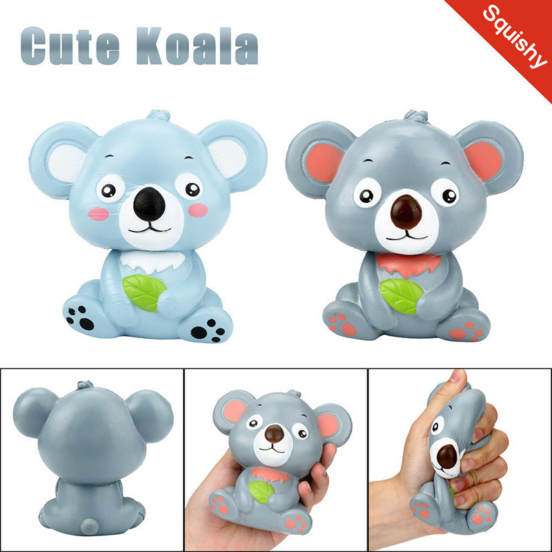Hot !New 12Cm Cute Koala Cream Scented Squishy Toy Slow Rising Squeeze Strap Kid Toy Gift Decompression Fun Toys For Child Adult