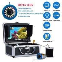 Fish Finder Underwater Fishing Camera 7 Inch 1000TVL Waterproof Video Underwater Camera 12 PCS Infrared Lamp ICE Fishing