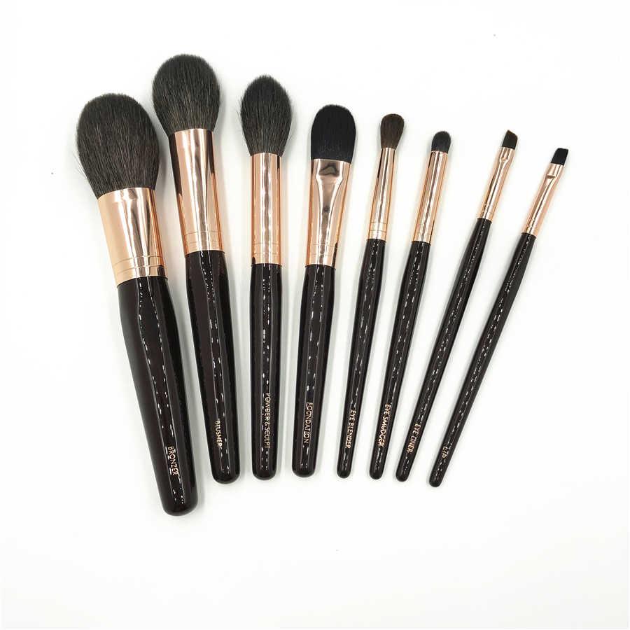 CT Brand 8Pcs Makeup Brushes Set High Quality Goat Hair Soft Bronzer Powder Blush Brush Eye