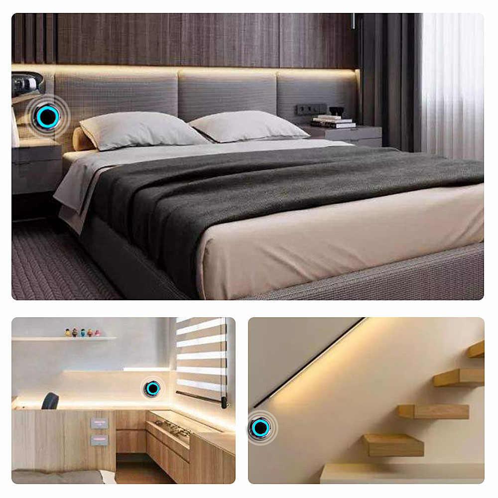 1 м/2 м/3 м/4 м/5 м светодиодная подсветка под шкаф с регулируемой яркостью Светодиодная лента для кухни/гардероба/шкафа светильник 12 В сенсорный датчик переключатель светильник для спальни ing