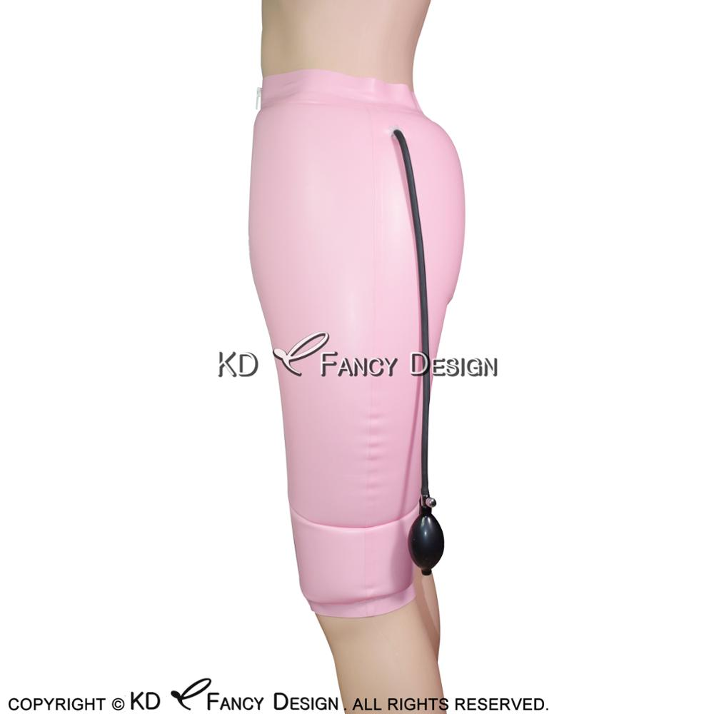 e9ed7c46918 Άνδρες ' s εσώρουχα Black Inflatable Sexy Latex Long Leg Boxer Shorts With Zipper  Rubber Boy Shorts Underpants Underwear Pants DK-0111