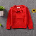 Roupas de Bebê de qualidade moda blusas de criança das meninas dos meninos de Malha de Algodão bonito arco Crianças roupas blusas crianças roupas 12m-5a