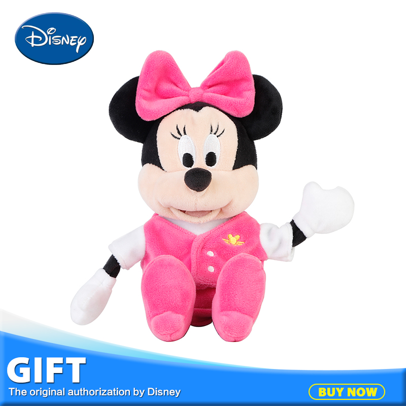 Disney 25cm Reversible Minnie Mouse Plush Toy Peluches Kids Flipped Stuffed Pendant Toy Juguetes Kawaii Coin Purse Children Gift