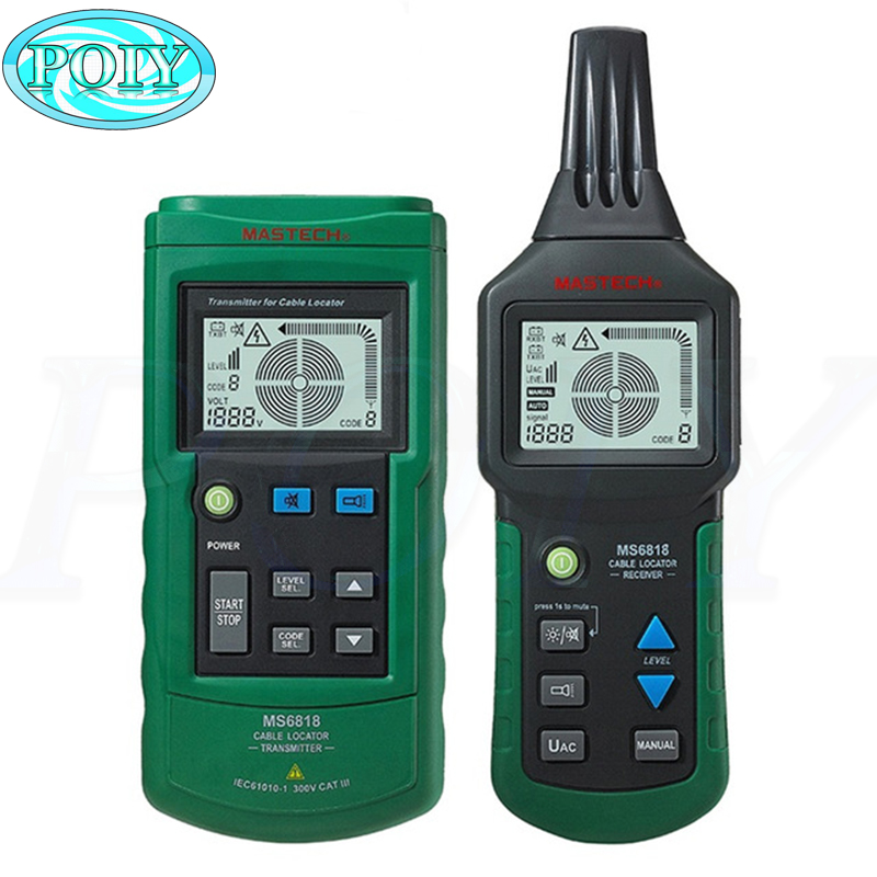 Hot Digital MASTECH MS6818 advanced wire tester tracker multi function Cable detector 12 400V Pipe Locator