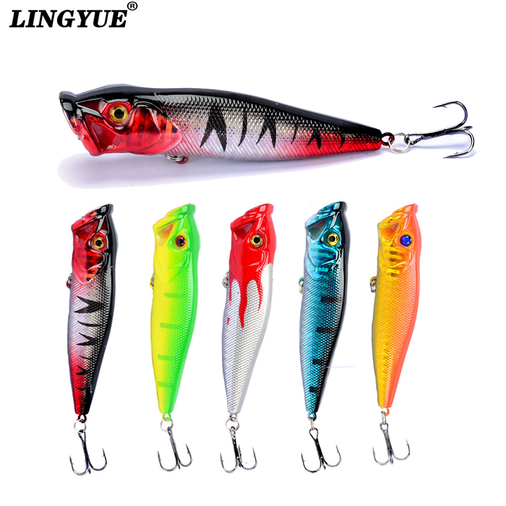 LINGYUE New 1pcs Fishing Lures 9.5cm 12g Topwater Popper Bait 5 color Available Bass Crankbait Wobbler Fishing Tackle Wholesale|bass crankbaits|wholesale crankbaitspopper bait - AliExpress