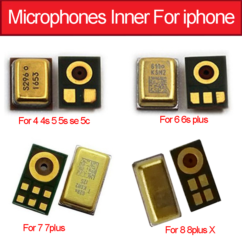 Geniune Speak Microphone Inner For Iphone 4 4S 5 5s 6 6s 7 8 Plus Mic Inner For Iphone X XS MAX XR Microphone Chip Replacement