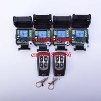 Free shipping 12V 1ch wireless remote control switch system 2 transmitter & 4 receiver(switch) relay smart house z wave