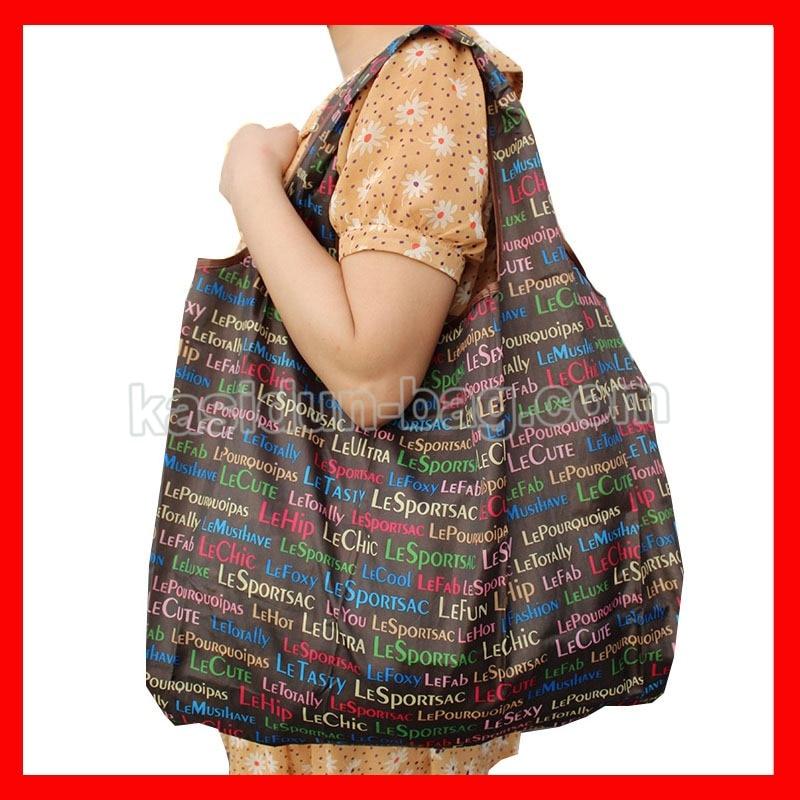 (1 pcs/lot) size 50x42cm Large nylon reusable foldable shopping grocery bag