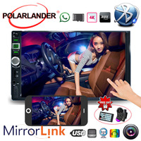7 Inch Mirror Link Screen Car Radio MP5 Player Bluetooth 2 Din Touch Screen USB With Camera Mirror For Android Phone 9 Languages